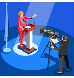 Election news infographic us spokesperson vector