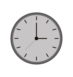 Monochromatic clock time watch work icon vector