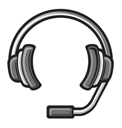 Call center headset vector