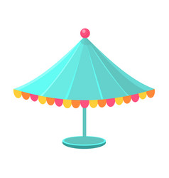 Blue decorated circus canopy object from baby vector