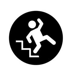 Insurance person accident icon vector