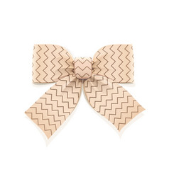Beige bow decorative element vector