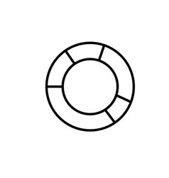 Donut chart icon vector