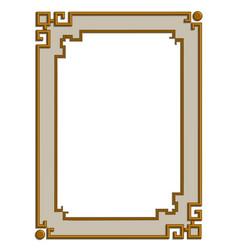 3d golden frame vector image