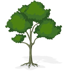 Tree cartoon for you design vector