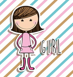 Girl design vector