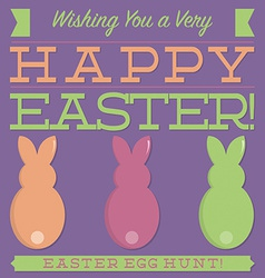 Retro style easter typographic card in format vector
