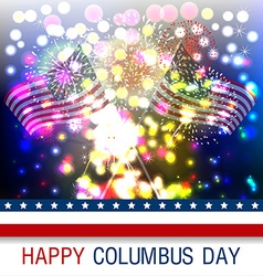 Columbus day celebration design vector