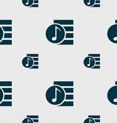 Audio mp3 file icon sign seamless pattern with vector