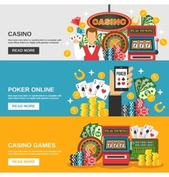 Casino banners set vector