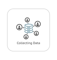Collecting data icon flat design vector