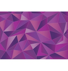 Abstract magenta triangles 3d background vector image