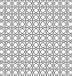 Monochrome seamless pattern with circles vector image