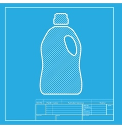 Plastic bottle for cleaning white section of icon vector