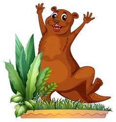 A brown animal vector image