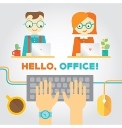About office or coworking life with vector