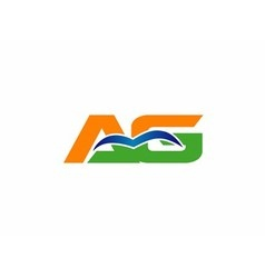 Ag initial company group logo vector