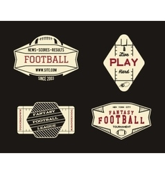 American football field geometric team or league vector image vector image