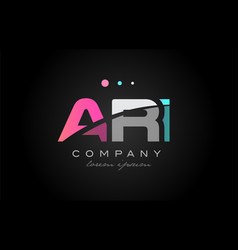ari a r i three letter logo icon design vector image