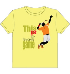 baseketball tshirt vector image