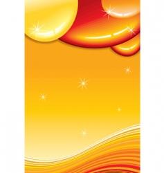 caramel card vector image