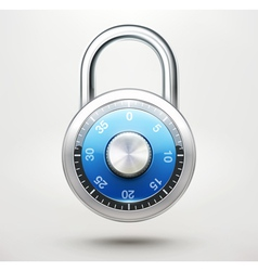 combination pad lock vector image