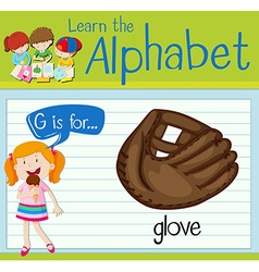Flashcard letter g is for glove vector