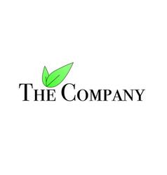 Green leaf company logo vector
