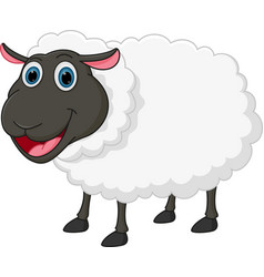 Happy sheep cartoon vector