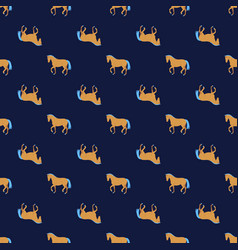 Horse silhouette simple seamless pattern vector