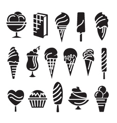 ice creams set vector image