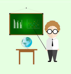 Infographic cute teacher cartoon vector