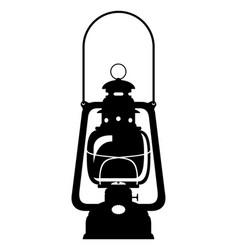 kerosene lamp old retro vintage icon stock vector image vector image