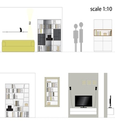 Living room Interior furniture vector image vector image