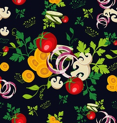 Organic vegetables seamless pattern background vector