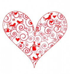 patterned heart vector image vector image