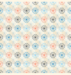 Seamless geometric flower pattern vector