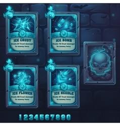 Set spell cards of ice school vector