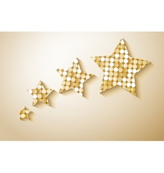 Shiny sequins stars Eps 10 vector image vector image