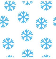 simple blue snowflake seamless pattern winter vector image
