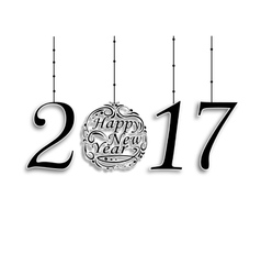 The inscription 2017 Wishing Happy New Year vector image