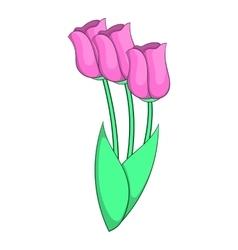 Tulips icon cartoon style vector image vector image