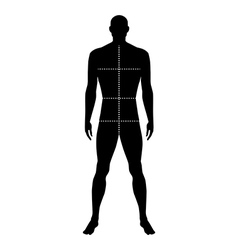 Fashion man full length outlined template figure vector