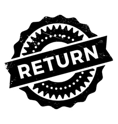 Return stamp rubber grunge vector