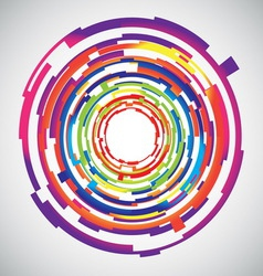 Abstract technology colourful circles background vector image