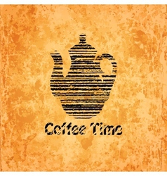 Coffee time background vector
