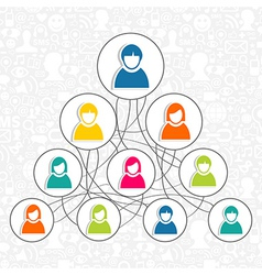 Social networking people vector