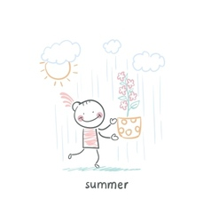summer walk vector image