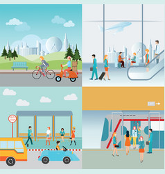 Info graphic of transportation vector