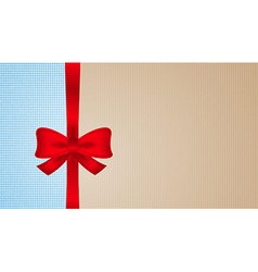 Brown and blue cardboard with red bow vector